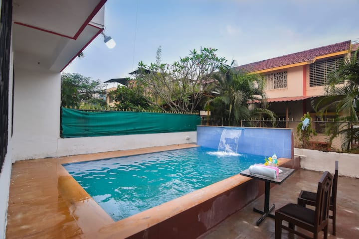 2BHK//AC//POOL//BBQ//FLAGSHIP VILLA