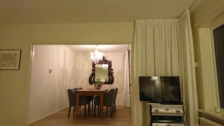 Spacious Apt with free parking & kingsize bed.