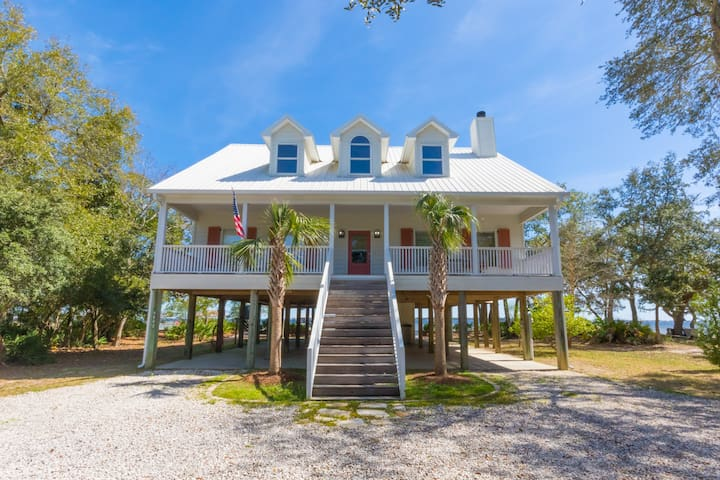 Bay Front Home with Beach - New on the Market!