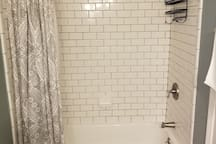 Private shower and bath