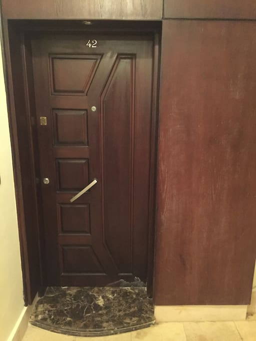 Front Door With Double Safety Locks