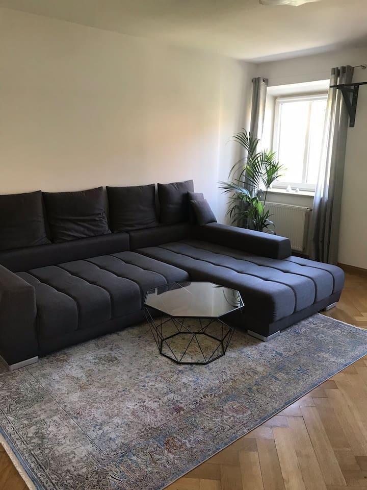 Living room / sofa where you will be sleeping