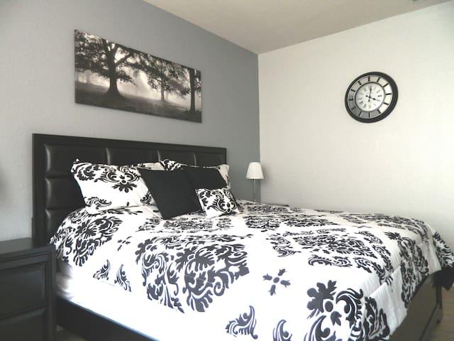Master bedroom new furniture and bedding April 2016