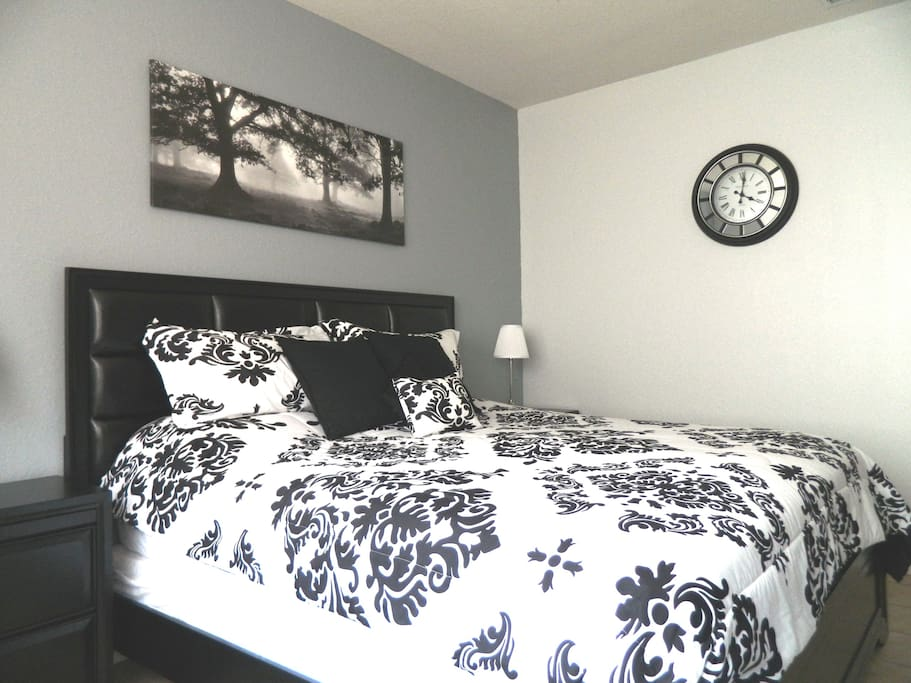 Master bedroom new furniture and bedding April 2016