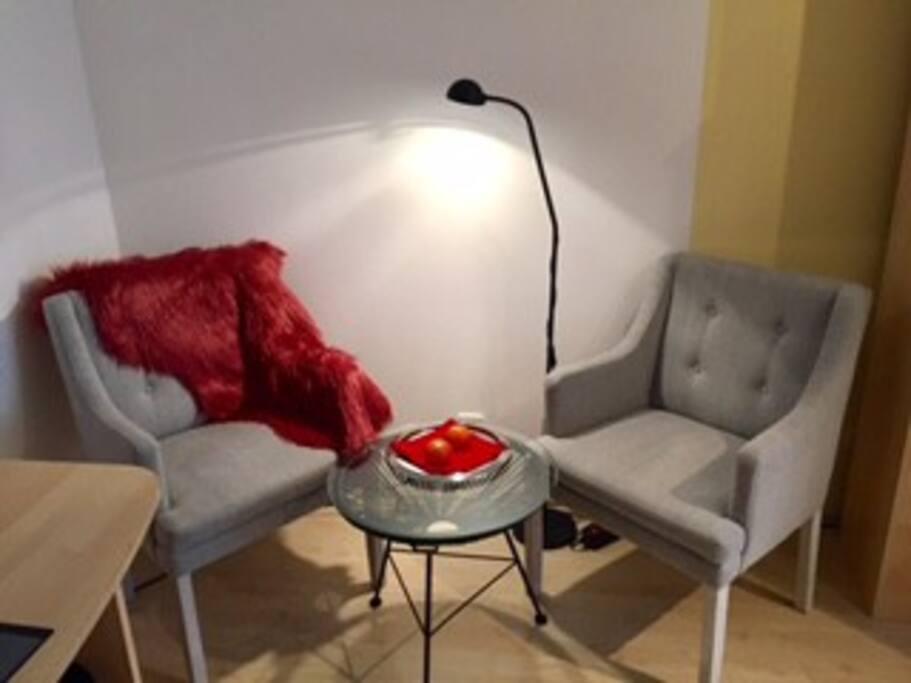 Gemütliche Sitzecke für 2 Personen