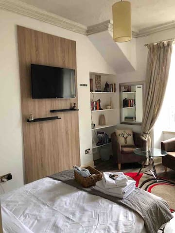 Modern an boutique room with smart TV
