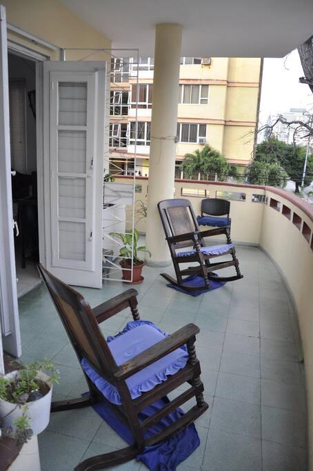 Área privada de la terraza
