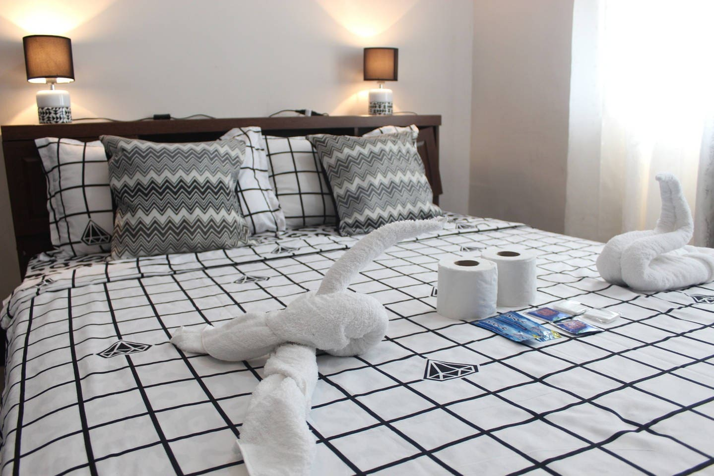Nice and Soft Bed Linens and Towels with Complete Toiletries