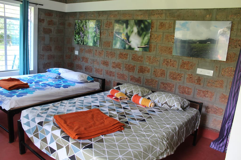 Each bedroom has two double beds
