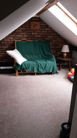 Cosy 2 roomed attic studio , shared kitchen - Cardiff - Lägenhet