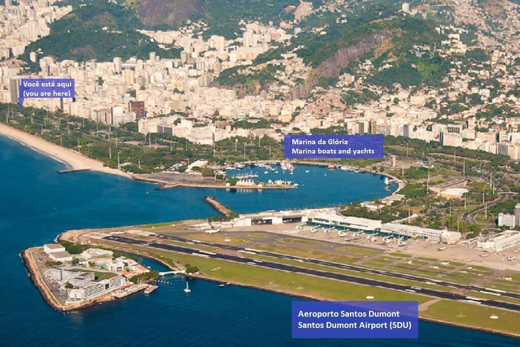 Super bem localizado, perto do Aeroporto Santos Dumont - SDU e da Marina da Glória.