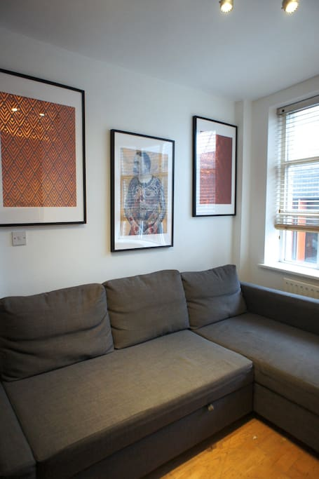 Here's the Living Room with Double Sofa-bed