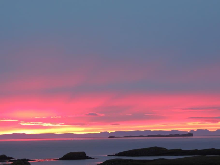 Lovely sunset of Stykkisholmur