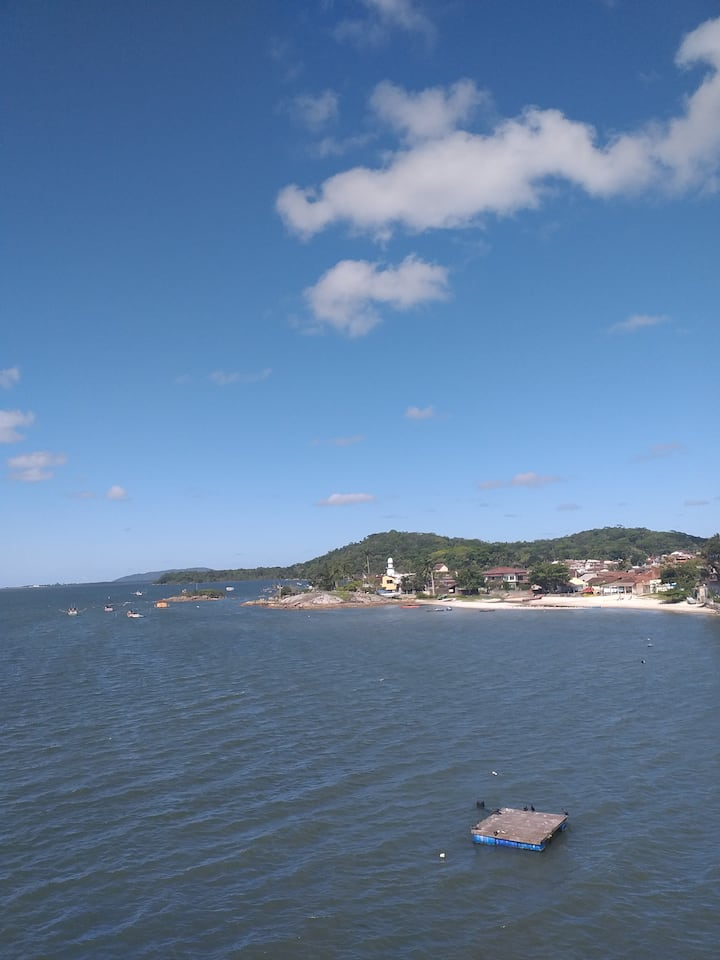 Vista linda para Baía da Babitonga