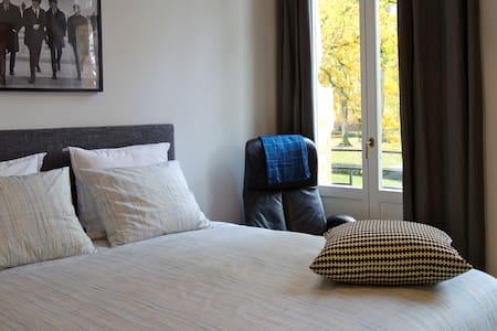 Chambre double, Ath, vintage style, vue sur parc
