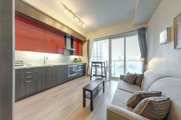 1 BR Furnished Condo w/Balcony across CN Tower