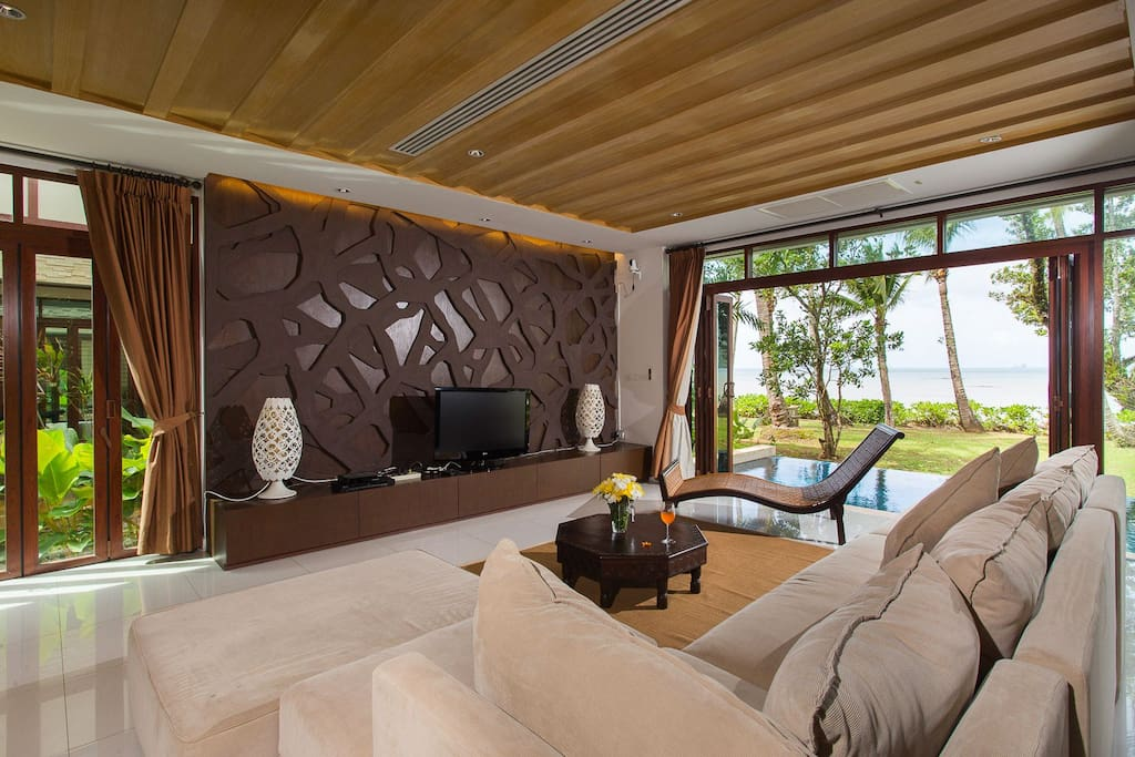 Living space with sea view