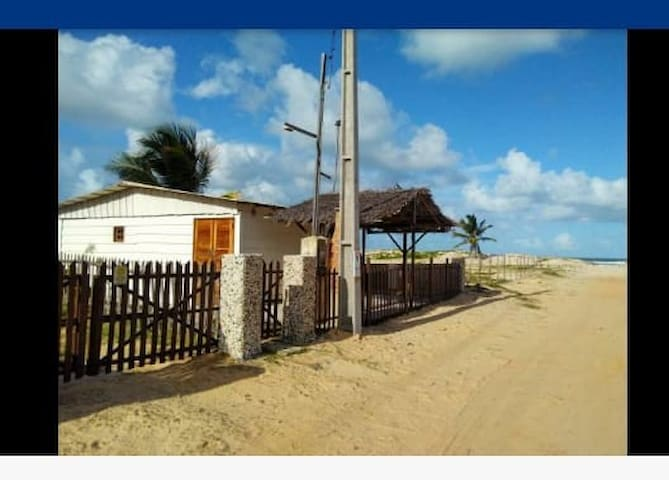 Chalet in deserted safe beach in Sergipe, Brazil