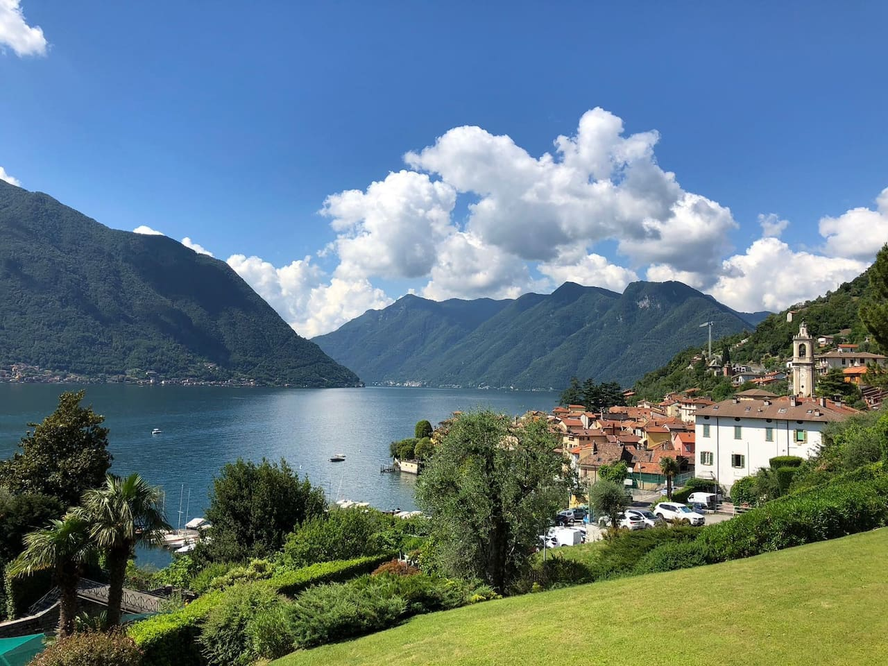 View south towards Como from the balcony