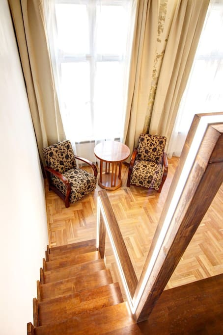 The room with antique furniture