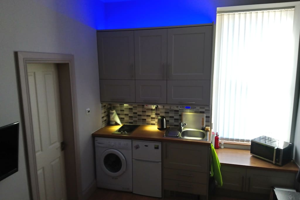 Kitchen within Living Room with Mood Lights