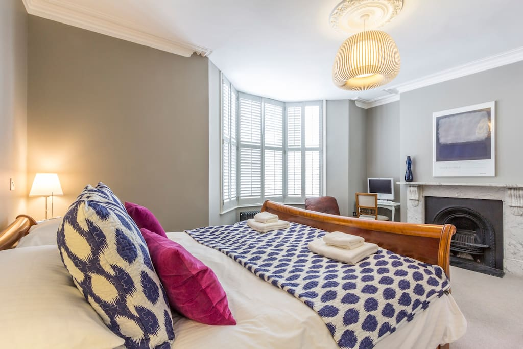 Luxury master bedroom with connected ensuite occupies whole floor!