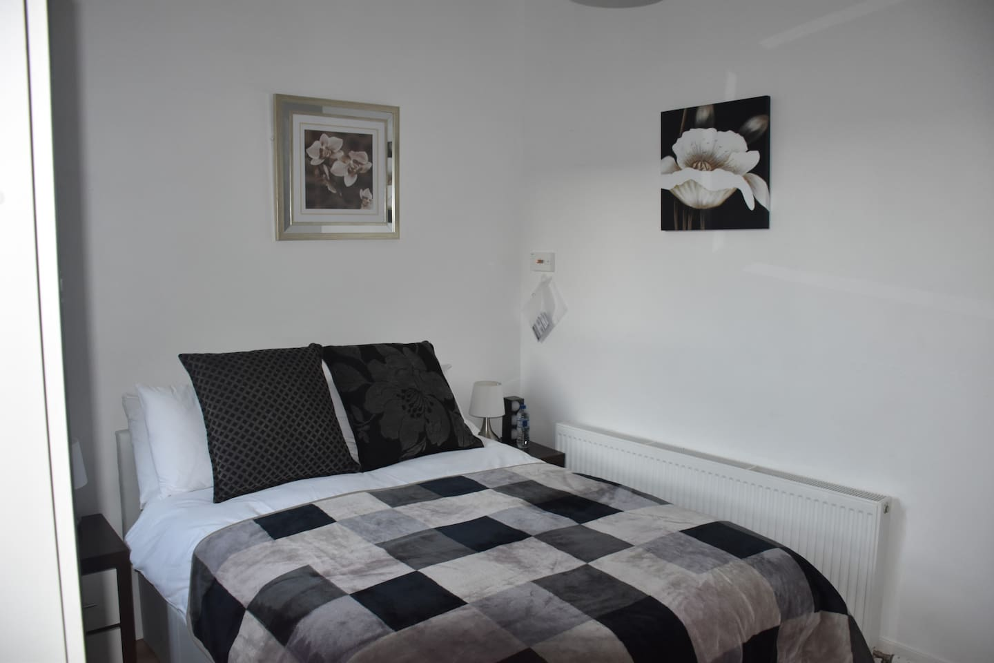 Clean and very comfortable double bed.