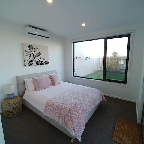 Master bedroom with fully fitted wardrobe