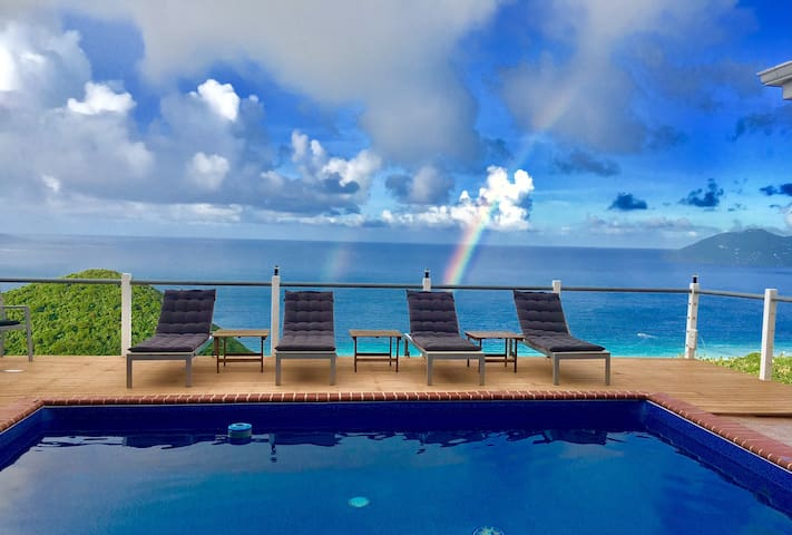 Villa Del Mar Tortola in Belmont Estates 5 bed rm
