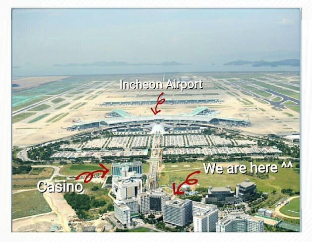 3mins from Incheon Airport. (Self Check-in) Triple - 중구 운서동 국제업무단지 - Apartment