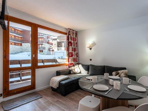 Double room + bunk room ski in/out Hameau-Mottaret