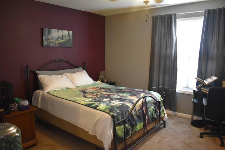 Legend of Zelda room with Queen bed Off HWY I-70