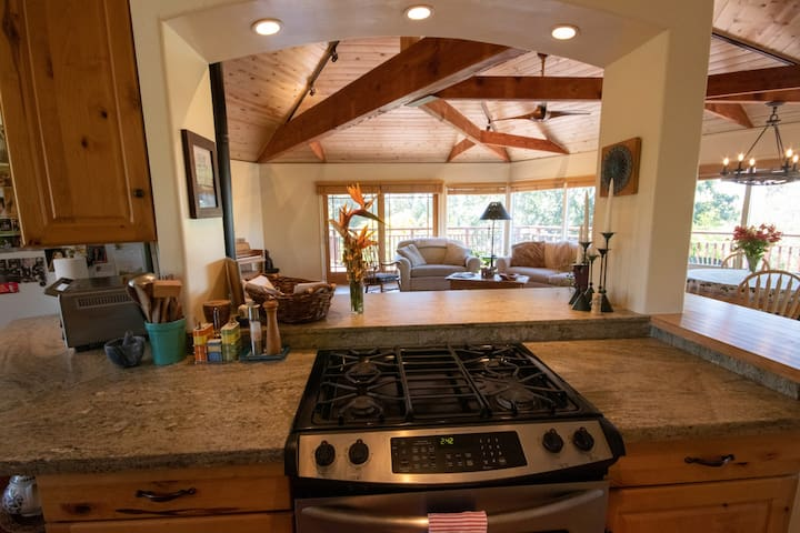 A grand place to cook up a meal and enjoy time with friends and family