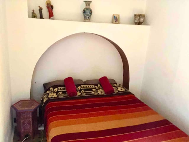 Your Double Red Room in The Medina