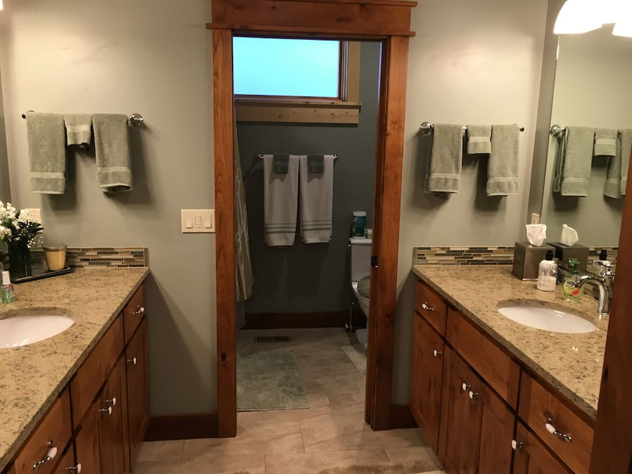 Jack and Jill bath for two bedrooms with total privacy