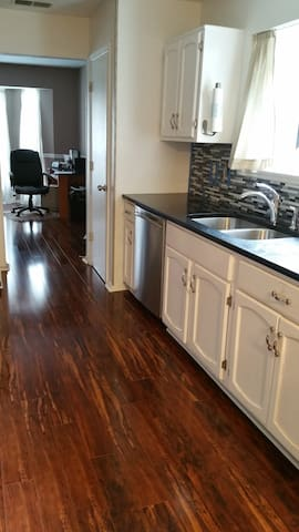 Plenty of counter space in kitchen