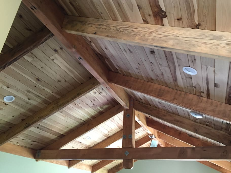 recycled hardwood rafters