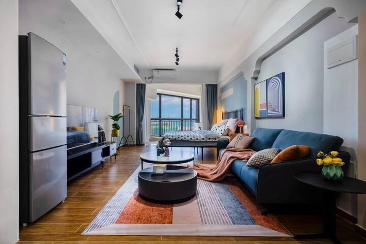 【喃夏】孟菲斯风银滩西海岸高层海景大床房