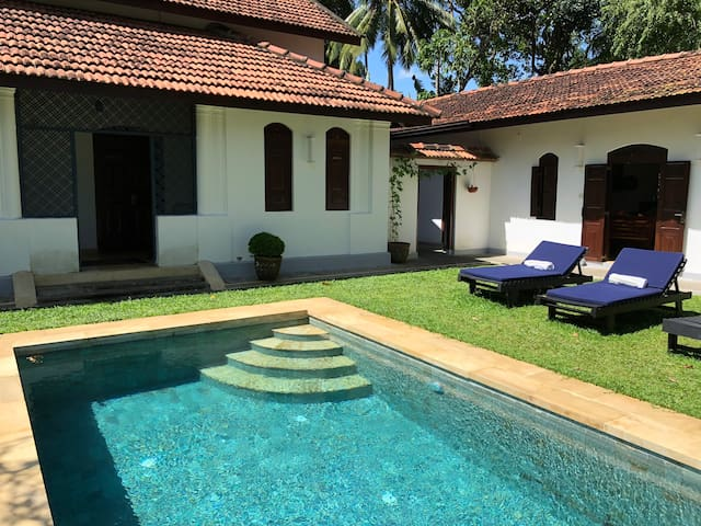 The pool is just a few steps from your bedroom