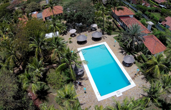 Pool facing bungalow, short walk to the Beach - B5