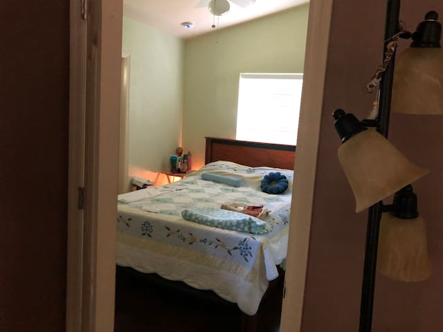 Queen Bedroom in Forest Meditation Center