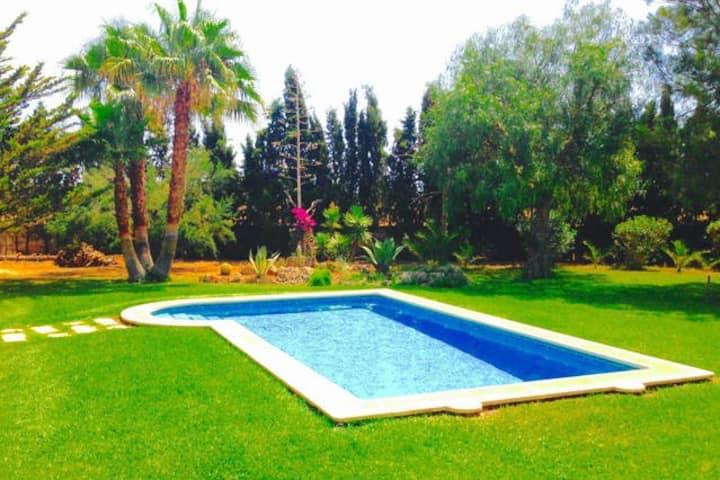 Villa Privada Oasis d´Es Trenc.Wifi