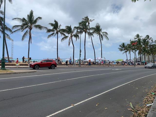 Waikiki Volleyball . 15 minutes walks from DH Promenade villa