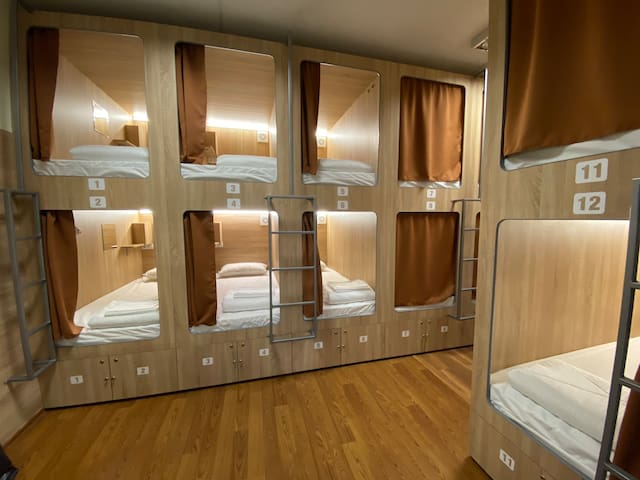 Capsule Bed in Hostel Center Șciusev 81/1