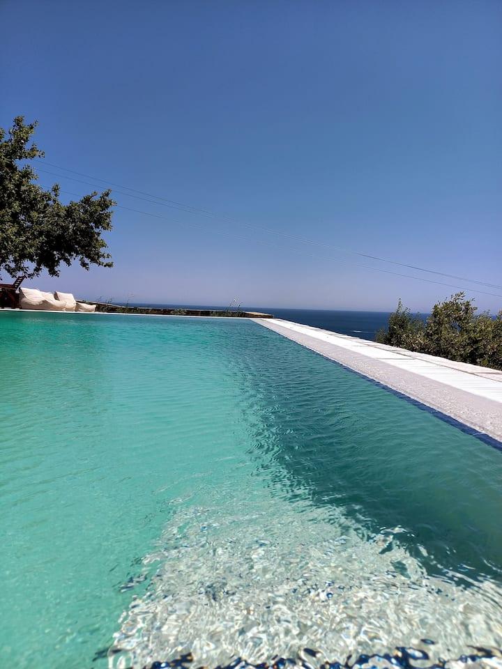 DEOS Andros Villas / Βίλες με Πανοραμική Θέα