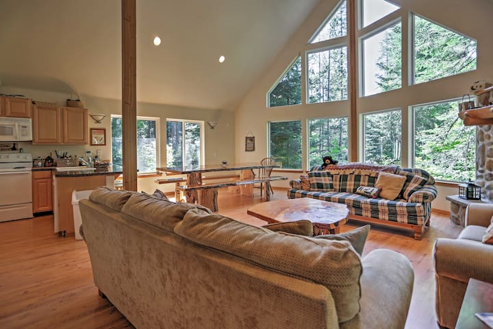 You'll love the majestic high vaulted ceilings!