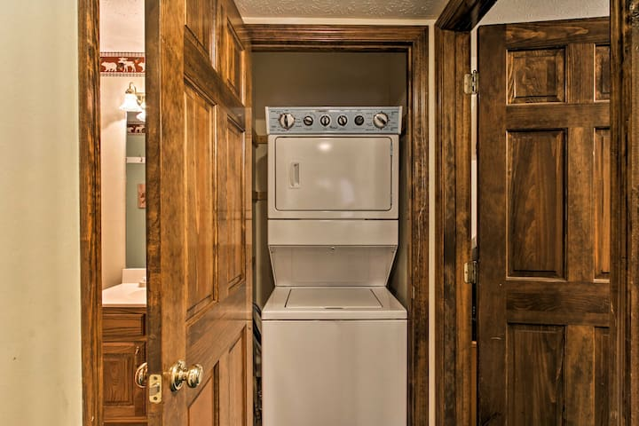 The property even features in-unit laundry machines!