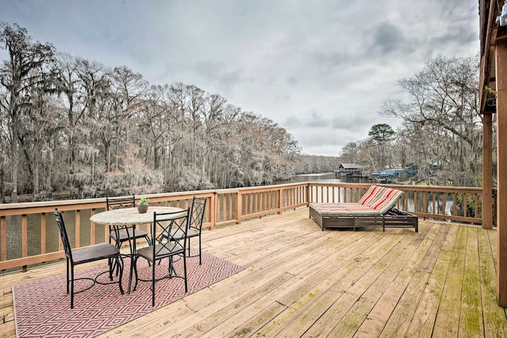 NEW! Waterfront Karnack Home w/ Deck & Boathouse!