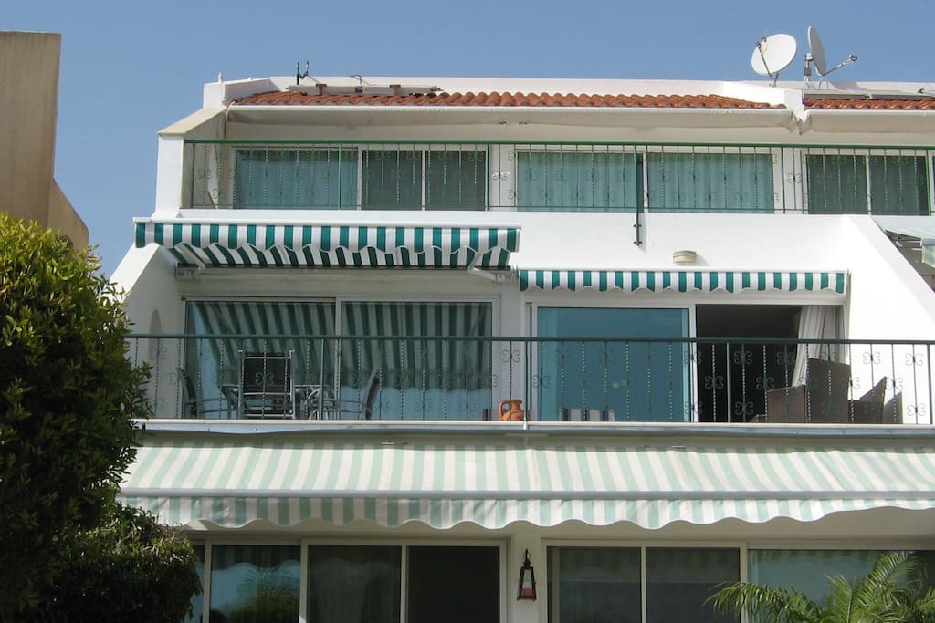 Awnings will open for sun or shade