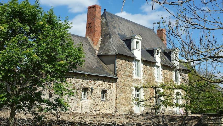 La Grange du Plessis - Chambre Framboise - Segré - Guesthouse